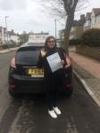 Damini passed with Alert No1 School of Motoring