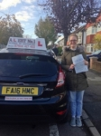 Sarah passed with Alert No1 School of Motoring