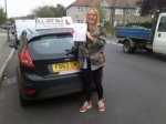 Poppy passed with Alert No1 School of Motoring