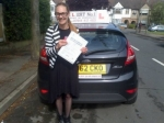 Cindy passed with Alert No1 School of Motoring