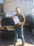 mansour passed with Alert No1 School of Motoring