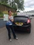sofie passed with Alert No1 School of Motoring