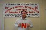 Aaron passed with Adrian's School of Motoring