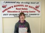 Bernie passed with Adrian's School of Motoring