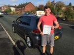 Gavin from Chadderton passed with Asta L Vista Driving School