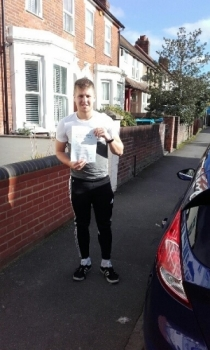 Well done Alessio passing on his first attempt with just 2 driver faults!