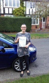 A great first time pass for Sarah with just 3 faults.