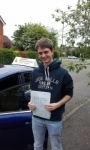 Adam Cook passed with Martin's Driving School
