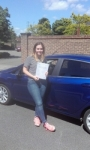 Amy passed with Martin's Driving School