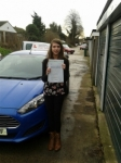 Fi Hilson passed with Martin's Driving School
