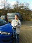 Gabby Watts passed with Martin's Driving School