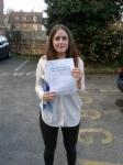 Genna Hammond passed with Martin's Driving School
