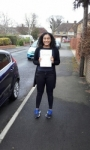Hannah passed with Martin's Driving School