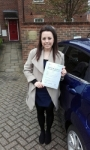 Jessica Pearson passed with Martin's Driving School