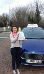 Laura Smith passed with Martin's Driving School