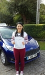 Angel Marks passed with Martin's Driving School