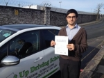 Asif Arif passed with Belt Up Driving School