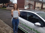 Jodie Newton passed with Belt Up Driving School