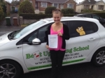 Lauren Scott passed with Belt Up Driving School