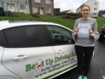 Liz Cann passed with Belt Up Driving School