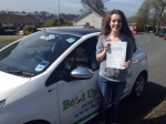 Nicky Clark passed with Belt Up Driving School