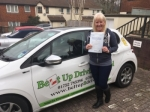 Tina Thorning-Curtis passed with Belt Up Driving School