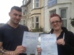 Alex Neal and Rebecca Gray passed with Clearway Driving School