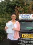 Chiara Capoverde passed with Clearway Driving School