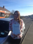 Chloe Kerlew passed with Clearway Driving School