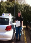 Christine England passed with Clearway Driving School
