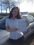 Claire Burton passed with Clearway Driving School