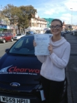 Darcey Hughes passed with Clearway Driving School