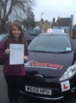 Jade Murphy passed with Clearway Driving School