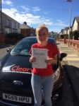 Jade Searle passed with Clearway Driving School
