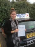 Joelle Cavalot passed with Clearway Driving School