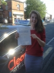 Katie Bamber passed with Clearway Driving School