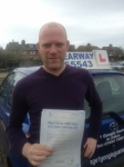 Lewis Perry passed with Clearway Driving School