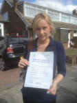 Lorna Rowbotham passed with Clearway Driving School