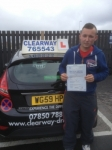 Matthew Talbot passed with Clearway Driving School