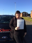 Maureen Wood-Newnes passed with Clearway Driving School