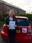 Megan Eaves passed with Clearway Driving School