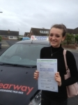 Megan Kemp passed with Clearway Driving School