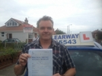 Peter Culbert passed with Clearway Driving School