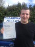 Robert Cooper passed with Clearway Driving School