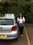 Shelley Parkinson passed with Clearway Driving School