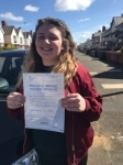 Tayla Holroyd passed with Clearway Driving School