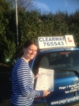 Pip Cartwright passed with Clearway Driving School
