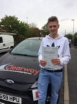 Charles Fitzpatrick passed with Clearway Driving School