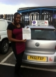 Chioma Eze passed with Clearway Driving School