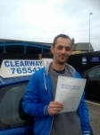 Stephanos Tsiorvatzudis passed with Clearway Driving School
